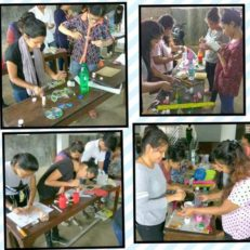KCVTians BUSY IN CRAFT MAKING FROM WASTE MATERIALS